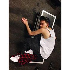 "Olly Alexander @ollyyears Instagram photos ""me n my flightcase r rly happy 2gethr"" #dork"