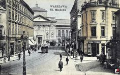 Warsaw Miodowa Street towards to Krakow Suburb Street Old Pictures, Old Photos, Pictures Of Beautiful Places, Poland History, Warsaw Ghetto, In Another Life, Krakow, Beautiful Buildings, Historical Photos