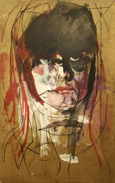 "Saatchi Online Artist: igoRjan Wojcik; Acrylic 2013 Painting ""pani.SZ"""