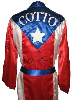 Miguel Cotto Signed Puerto Rico Robe - Autographed Boxing Robes and Trunks by Sports Memorabilia. $309.75. Miguel Cotto Signed Puerto Rico Robe