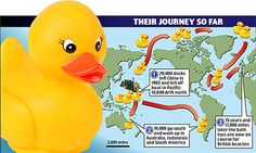 """This article is about the real event that inspired """"Ducky"""" by Eve Bunting and """"10 Little Rubber Ducks"""" by Eric Carle"""