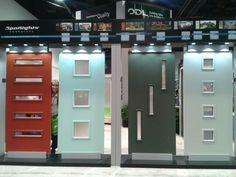 PATINA PERIOD DESIGN. mid century modern doors at International Builders show, Las Vegas.