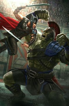HQ Image of Thor vs. Hulk from 'Thor: Ragnarok' by Andy Park Marvel Comics, Marvel Fanart, Films Marvel, Marvel Comic Books, Marvel Heroes, Marvel Characters, Marvel Cinematic, The Avengers, Disney Marvel