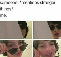 stranger things meme someone: *mentions str - memes Stranger Things Quote, Stranger Things Have Happened, Stranger Things Aesthetic, Stranger Things Netflix, Mike From Stranger Things, Zack Y Cody, Saints Memes, Lp Laura Pergolizzi, Stranger Danger