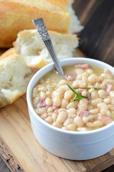 Rosemary Ham Bean Soup from @The Novice Chef Blog {Jessica}