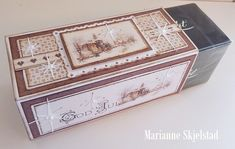 """Here is anotherAfter Eight box, perfect as a Christmas gift.Have a lovely day,MariannePion products:Christmas in Norway 6x6""""– Church PD6506Christmas in Norway – Borders PD6410Days of Winter – Tags PD5112"""