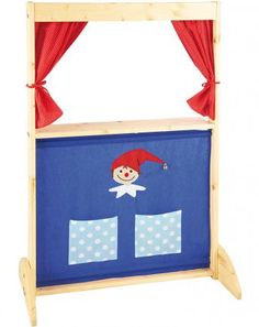 moulin roty puppentheater aus holz f r handpuppen rot ideen zum selberbauen f r kinder. Black Bedroom Furniture Sets. Home Design Ideas