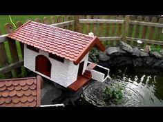 Wassermühle mit Bachlauf im Miniformat
