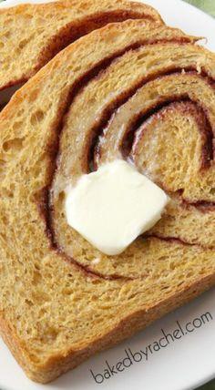 Pumpkin Cinnamon Swirl Bread | pumpkin desserts