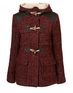 Textured Wool Duffle Coat