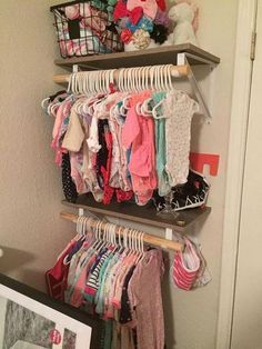 Exceptional baby nursery tips are offered on our web pages. look at this and you wont be sorry you did. Baby Clothes Storage, Baby Storage, Bedroom Storage, Organizing Baby Clothes, Clothing Storage, Baby Bedroom, Girls Bedroom, Bedroom Ideas, Nursery Ideas