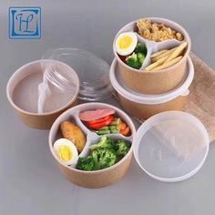 Source 1500 ml disposable food container brown kraft paper bowl soup salad bowl with lid (Customized Acceptable) on m.alibaba.com Food Box Packaging, Food Packaging Design, Beverage Packaging, Gift Packaging, Disposable Food Containers, Kraft Paper, Paper Paper, Kitchen Essentials List, Vegan Lunch Box
