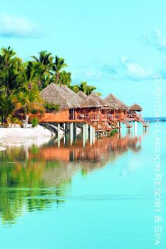 Overwater Bungalows of Aitutaki Lagoon Resort ~ Cook Islands, New Zealand