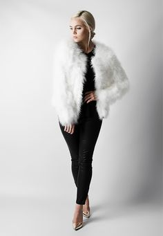 Line & Dot Marabou Fur Jacket