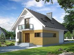 Lilia mały nowoczesny i energooszczędny dom - Jesteśmy AUTOREM - DOMY w Stylu New Homes, Outdoor Structures, House Design, Outdoor Decor, Home Decor, Modern Houses, Modern Homes, New Home Essentials, Interior Design