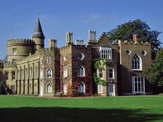 Home of Sir Horace Walpole, Earl of Oxford. Begun in Extensive remodels and additions through the early Strawberry Hill House, Chester Cathedral, Gothic Mansion, English Architecture, Contrast Lighting, English Castles, Somewhere In Time, House On A Hill, British Isles