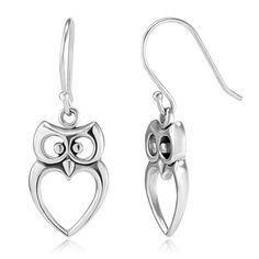 925 Sterling Silver Owl Bird Cut-Out Heart Shaped Dangle Hook Earrings 1.2'' Fashion Jewelry for Women, Teens - Nickel Free null,http://www.amazon.com/dp/B00CGID8G2/ref=cm_sw_r_pi_dp_3-Vdsb126QNYFTHA