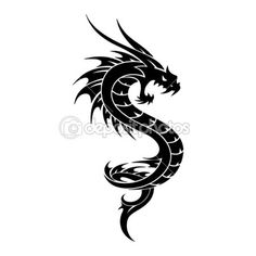 Tattoo Dragon Vector tribal Illustration