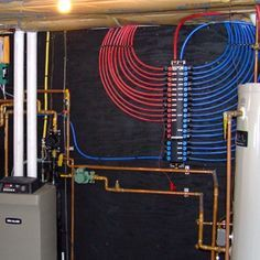 PEX Manifold.   I'd do this in a cabin at the lake, or even a primary house.