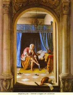 Jan Steen. The Morning Toilet. 1663. Oil on wood, 64.7 x 53 cm. Royal Collection, London, UK.