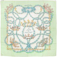 """Auth Hermes Paris """"LE SACRE DU PRINTEMPS"""" Vintage Silk Scarf HENRI D'ORIGNY 90cm #Hermes #ShawlWrap"""