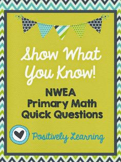 NWEA MAP Testing Practice Primary Math Quick Question Cards