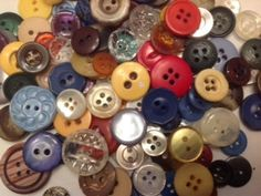 Approx 200 sm 2 and 4 hole plastic craft by ButtonsAndTreasures