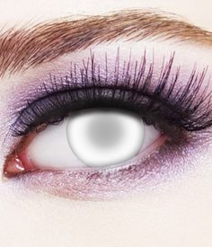 Share CoolGlow with you Friends and Receive 5% on your order.  Crazy Halloween Contact Lenses - Blind #http://pinterest.com/coolglow/