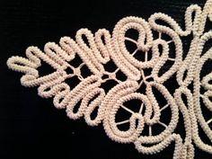 Doily Romanian Point Lace Style ECRU Beige Floral by ValeriasShop
