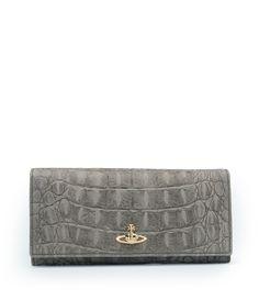 48fed1c5ae VIVIENNE WESTWOOD Grey Amazonia Wallet 321321. #viviennewestwood #bags  #leather #wallet #