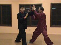 Tai Chi Push Hands Taiji tui-shou. Advanced push hands. First half video demo, 2nd half instructions.