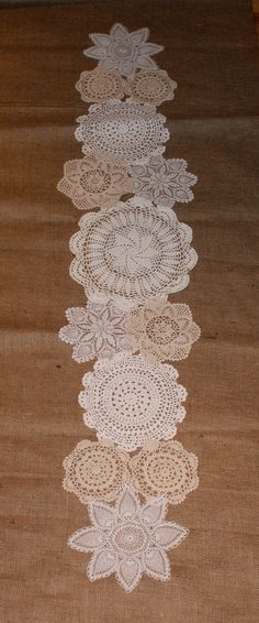 Custom made doily table runners for your by Littlewhiteboutique, $90.00