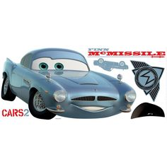 Disney Cars 2 Finn McMissle Wall Stickers Accent Decal