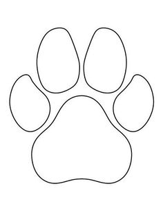 free dog applique patterns, paw print template