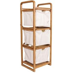 Amazon.com: Ancona life Bamboo Bathroom Shelf 3-Tier Multifunctional... ($56) ❤ liked on Polyvore featuring home, home improvement and storage & organization