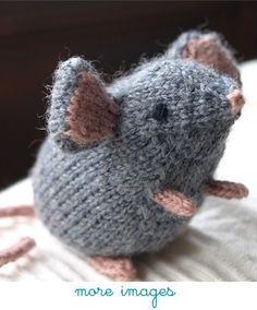 little mouse. fun to make a whole family of these with oddments of yarn leftover from other projects