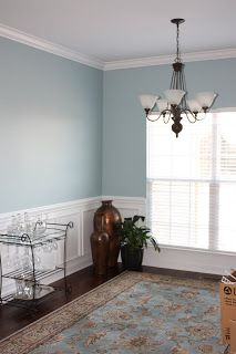 Here S What The Dining Room In North Hampton Will Look Like Spoiler I Love It Wainscoting And Paint Color Benjamin Moore Wedgewood Grey