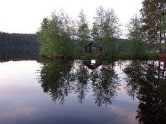 Old boat house lake Rikkavesi Outokumpu Finland