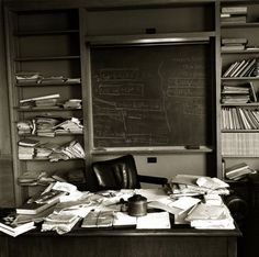 Einstein's office on the day of his death April 18, 1955