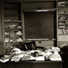 Albert Einstein's office on the day he died in 1955.