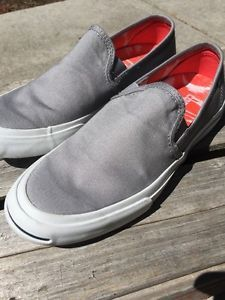 aba94ebe80c3 Converse Jack Purcell Dolphin Grey Slip on Women s 7 5 Mens 6 Mint