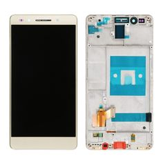 [$30.20] iPartsBuy Huawei Honor 7 LCD Screen + Touch Screen Digitizer Assembly with Frame(Gold)