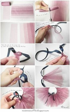 How to make a tutu tutorial. Paired with a leotard would be so cute crafts diy nail polish Baby Tutu Tutorial Diy Tutu, Diy Doll Tutu, No Sew Tutu, Tutu Sans Couture, Doll Patterns, Clothing Patterns, Baby Tutu Tutorial, Skirt Tutorial, Tutorial Sewing