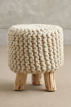 Anthropologie Handknit Tuffet #AnthroFave
