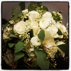 This beautiful bridal bouquet will go with any color scheme you choose for your wedding. #weddingplanning #weddingplanner #weddingflorist #weddingdesigner #bride #groom #wedding #livevents