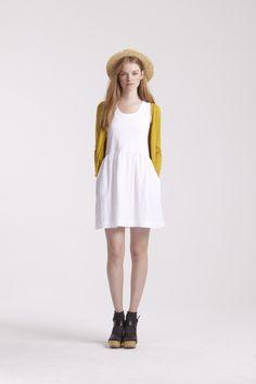 42e8cc3e4b1 Orla Kiely Pre Lookbook for Spring Summer 12 White Sundress