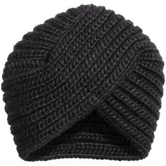 H&M Turban in Rippenstrick 3,99 ❤ liked on Polyvore featuring accessories, hats, turban hat and h&m hats
