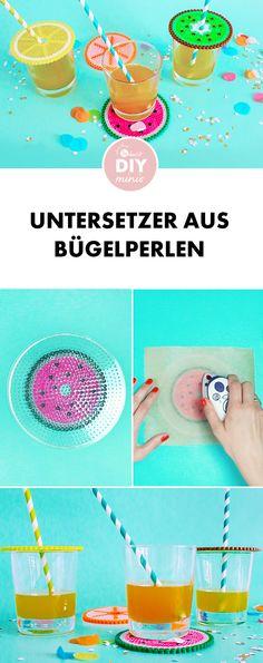 Bunter Wespenschutz: Untersetzer aus Buegelperlen selber machen - kostenlose DIY-Anleitung via Makerist.de