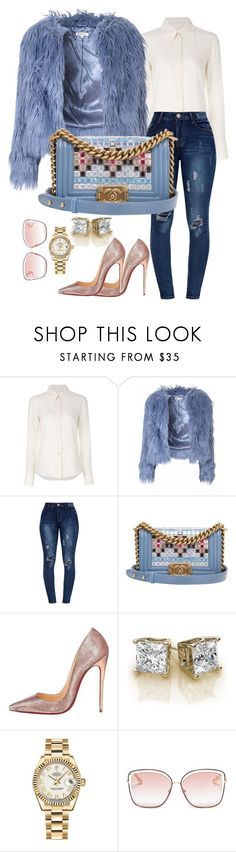 """""""Untitled #215"""" by styledbytammy on Polyvore featuring Chloé, Glamorous, Chanel, Christian Louboutin and Rolex #oysterrolex"""