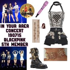 Blackpink- In Your Area Concert Blackpink Fashion, Kpop Fashion Outfits, Stage Outfits, Edgy Outfits, Korean Outfits, Classic Outfits, Dance Outfits, Korean Fashion, Cute Outfits